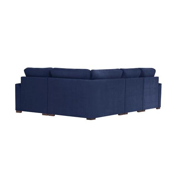 Rohová pohovka Jalouse Maison Irina, pravý roh, námořnicky modrá
