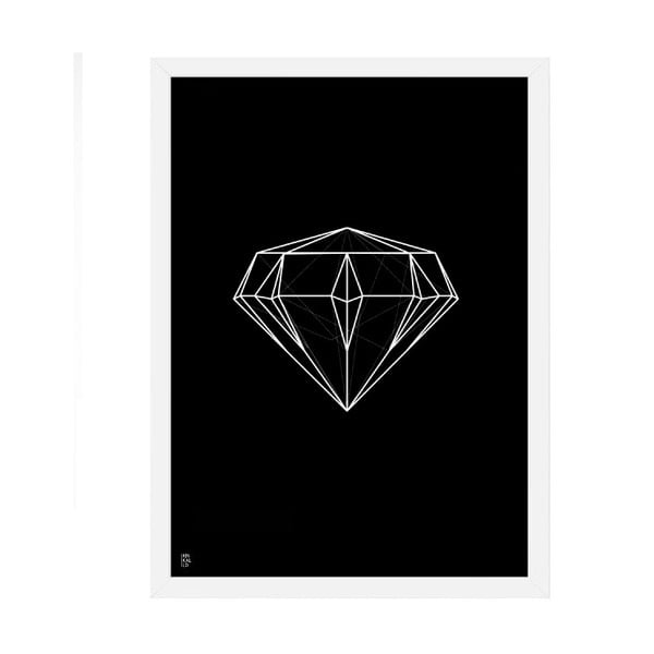 Plakát Diamond Geometric Black, 50x70 cm