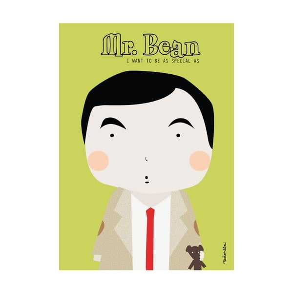 Plakát I want to be Mr. Bean