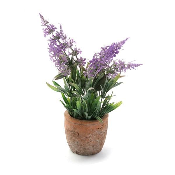 Brązowa doniczka ze sztuczną lawendą Versa Lavender