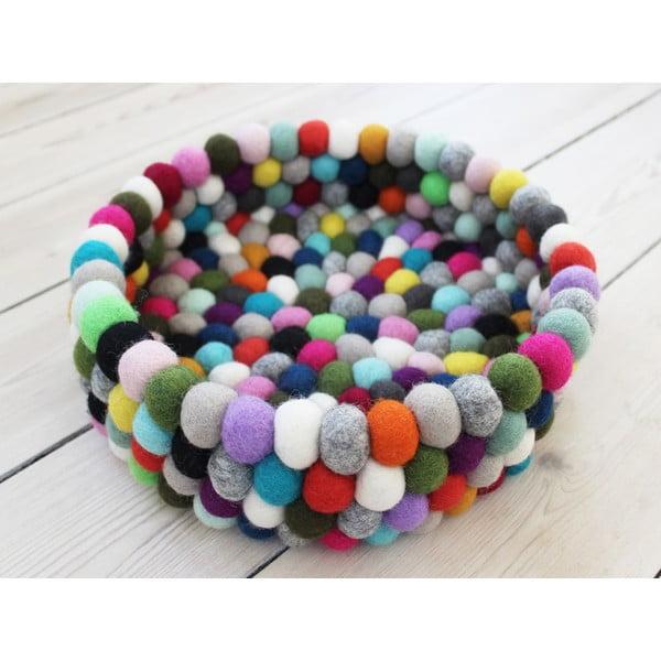 Kuličkový vlněný úložný košík Wooldot Ball Basket Multi Pang, ⌀ 28 cm