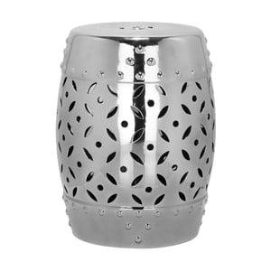 Keramický odkládací stolek vhodný do exteriéru ve stříbrné barvě Safavieh Cyprus