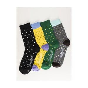Sada 4 párů unisex ponožek Funky Steps Miksa, velikost39/45