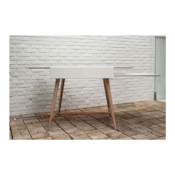 Rozkládací stůl Slide White, 80x75 cm