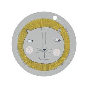 Dětské silikonové prostírání OYOY Lion, ⌀ 39 cm
