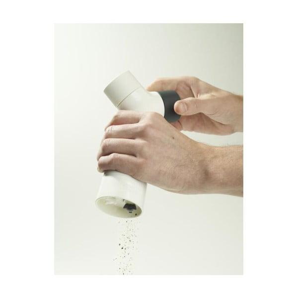 Dvoukomorový mlýnek na pepř a sůl Grinder, bílý
