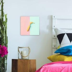 Skleněný obraz OrangeWallz Banana, 30 x 30 cm