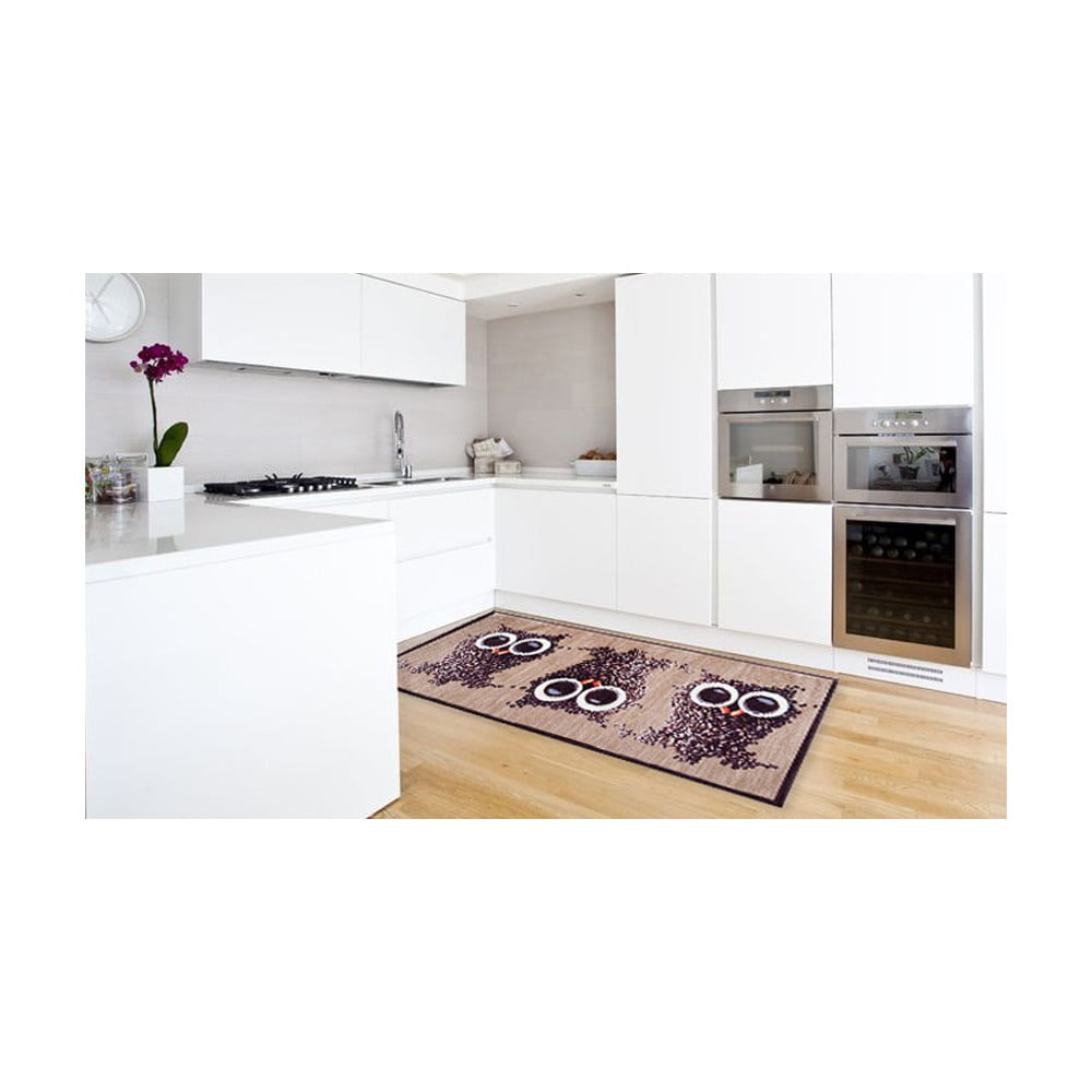 Vysoce odolný kuchyňský koberec Webtappeti Gufocaffe, 60 x 220 cm
