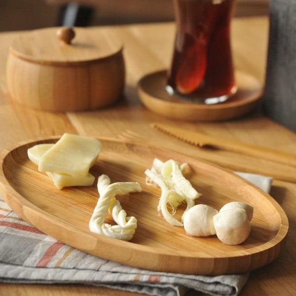 Platou servire din bambus Bambum Snack Bowl