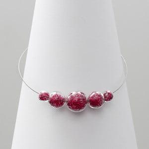 Růžový skleněný náhrdelník ko–ra–le Wired 6