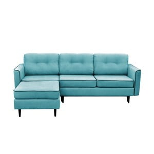 Canapea extensibilă cu 3 locuri, picioare negre,  Mazzini Sofas Dragonfly, pe stânga