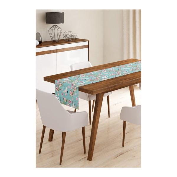 Běhoun na stůl z mikrovlákna Minimalist Cushion Covers Birds, 45x145cm