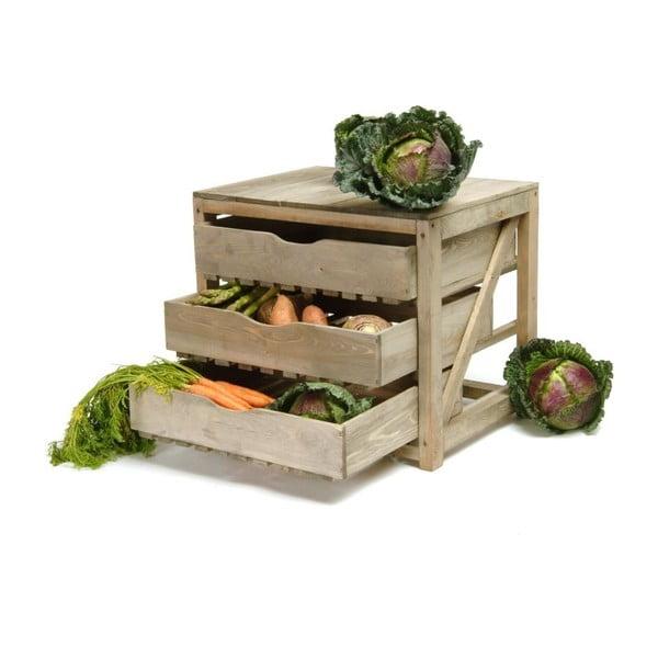 Úložné šuplíky ze smrkového dřeva na zeleninu Garden Trading