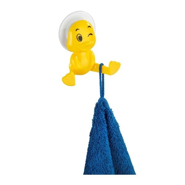 Žltý nástenný háčik Wenko Duck