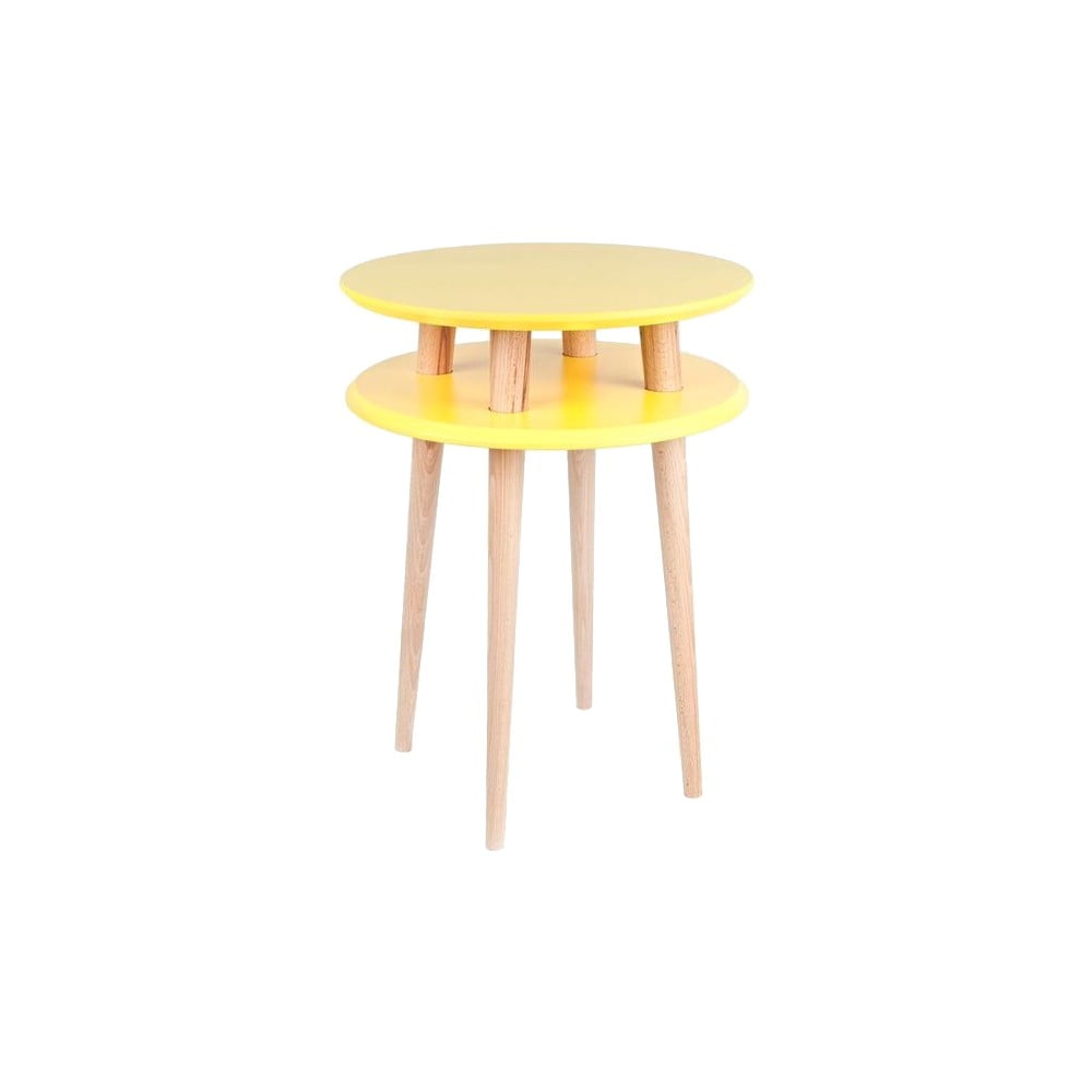 Žlutý konferenční stolek Ragaba UFO, Ø 45 cm