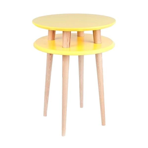 UFO sárga dohányzóasztal, ⌀ 45 cm - Ragaba