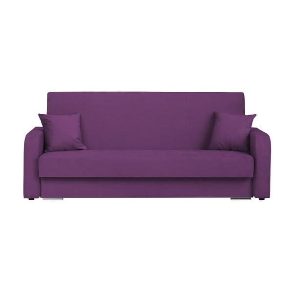 Henri sötétlila háromszemélyes kanapé ágyneműtartóval - Melart