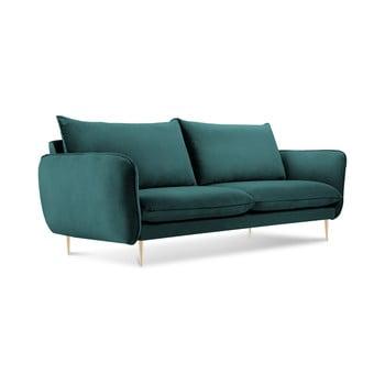 Canapea cu tapițerie din catifea Cosmopolitan Design Florence, verde petrol de la Cosmopolitan Design