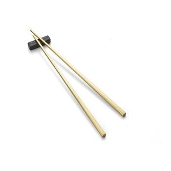 Bețișoare chinezești cu suport Bitz Brass, auriu