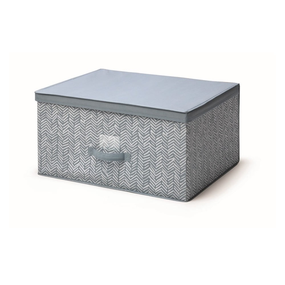 Modrý úložný box s víkem Cosatto Tweed, šířka 60 cm