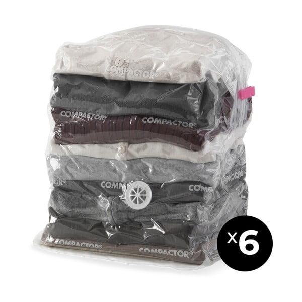 Set 6 saci cu vid pentru haine Compactor Compact Express, 20 x 30 x 50 cm