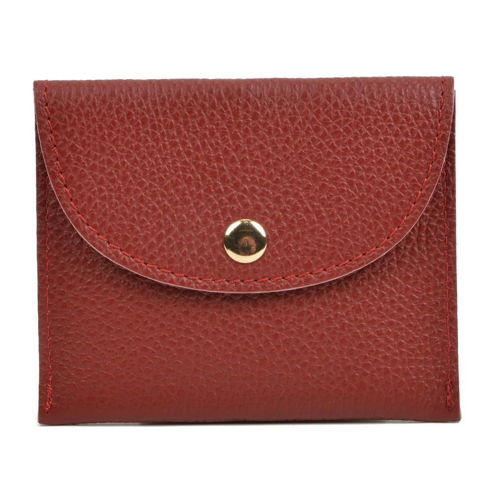 Červená kožená peněženka Sofia Cardoni