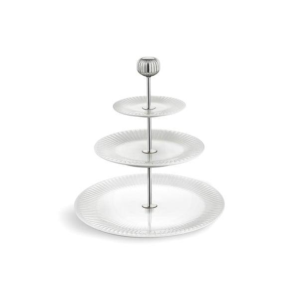 Trojposchodový biely porcelánový etažér Kähler Design Hammershoi Etagere, ⌀ 28 cm