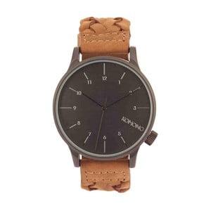 Pánské hnědé hodinky s koženým řemínkem Komono Wowen Chestnut