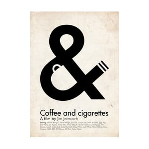 Plakát Coffee and cigarettes, 70x100 cm