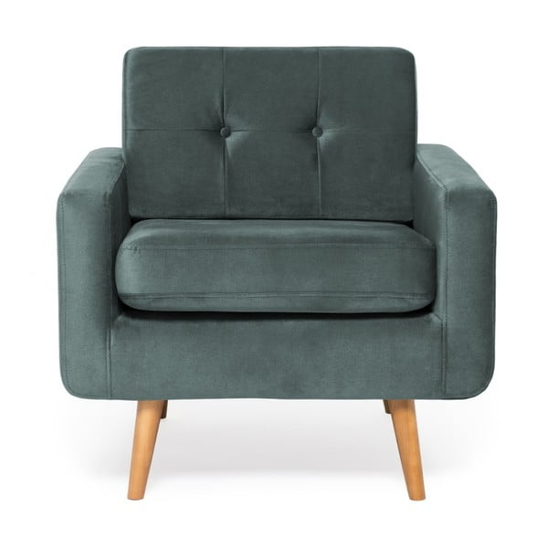 Niebieskoszary fotel Vivonita Ina Trend