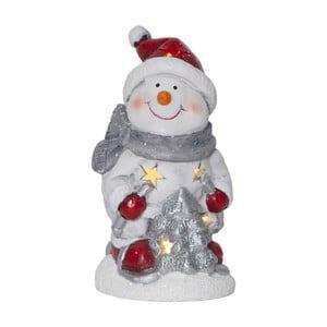 Svítící LED sněhulák Best Season Friends, výška15cm