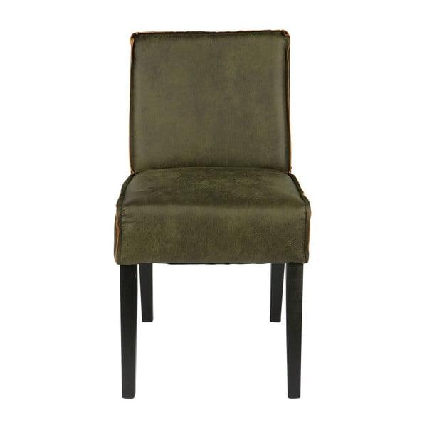 Sada 2 zelených židlí s potahem z recyklované kůže BePureHome Rodeo