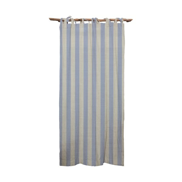 Draperie Linen Cuture Cortina Hogar Blue Stripes, albastru