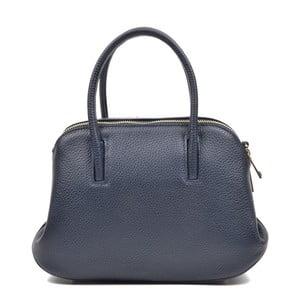 Tmavě modrá kožená kabelka Mangotti Marion