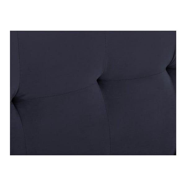 Tmavě modré čelo postele Kooko Home Basso, 120 x 200 cm
