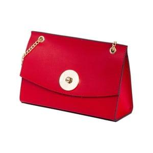 Červená kabelka z pravé kůže Andrea Cardone Elda