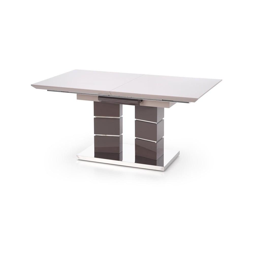 Šedý rozkládací jídelní stůl Halmar Lord, délka 160 - 200 cm