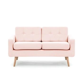 Canapea pentru 2 persoane Vivonita Ina, roz pastel de la Vivonita