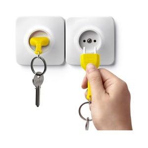 Věšáček na klíče se žlutou klíčenkou Qualy&CO Unplug