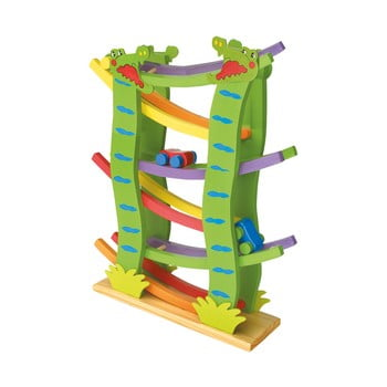 Circuit cu bile din lemn Legler Crocodile de la Legler