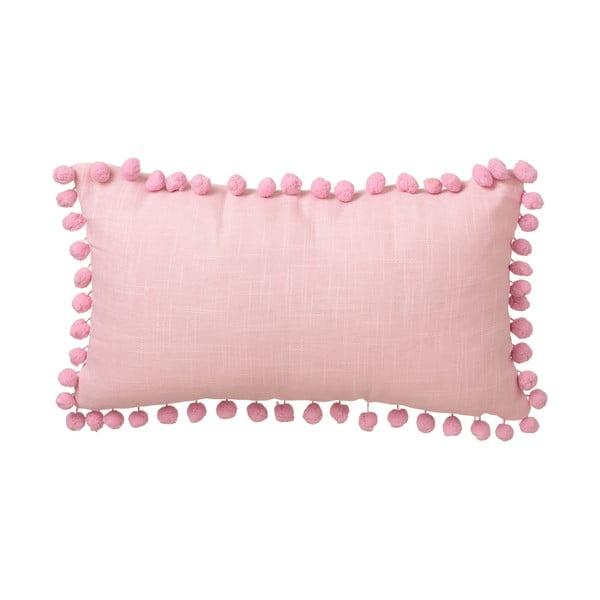 Różowa poduszka Unimasa Pompon, 50x30 cm