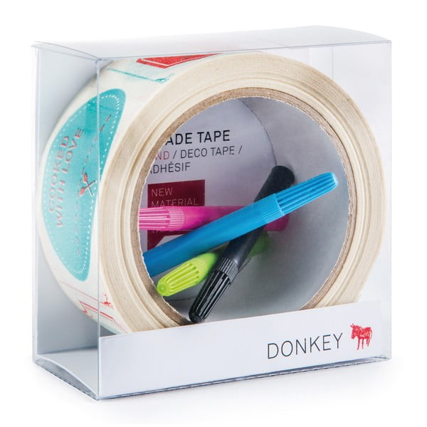 Lepící páska s popisovači Donkey Tape Gallery