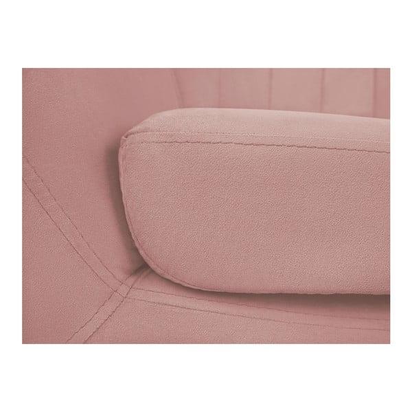 Světle růžové křeslo Mazzini Sofas Toscane, černénohy