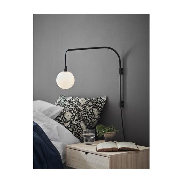 Černá nástěnná lampa Markslöjd Buddy