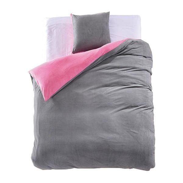 Lenjerie de pat din microfibră DecoKing Furrios, 155 x 220 cm