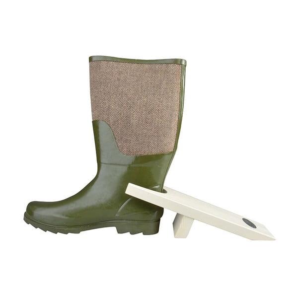 Bílý zouvák z borovicového dřeva na boty EsschertDesign
