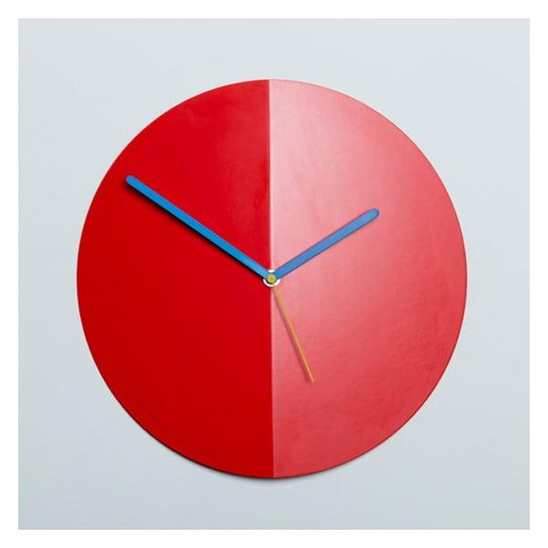 Nástěnné hodiny Mountain Fold, červené