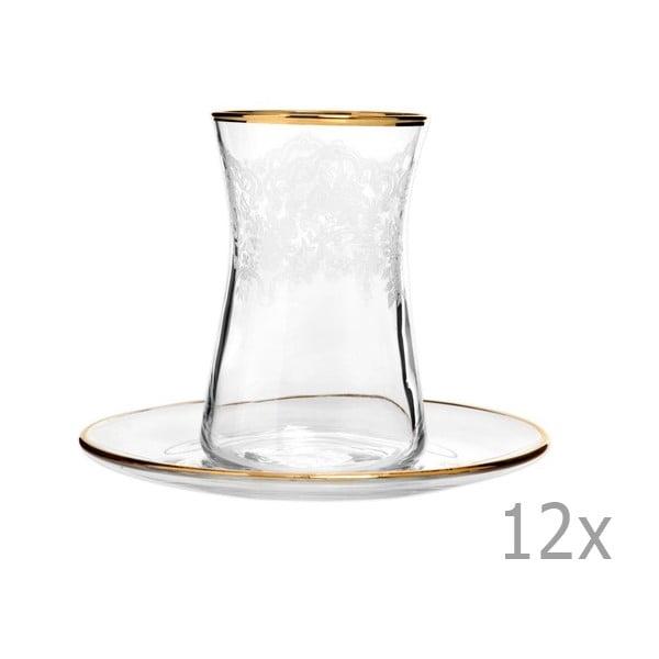 Sada 12 sklenic s podšálkem Mezzo Snow, 170 ml