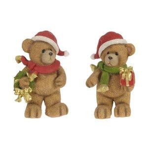 Sada dvou kusu dekorativních medvídků InArt Santa