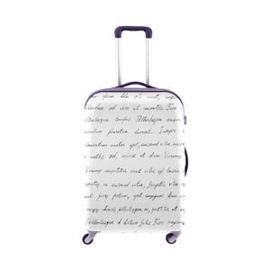 Bílý obal na kufr Oyo Concept Spisovatel, 76 x 49 cm